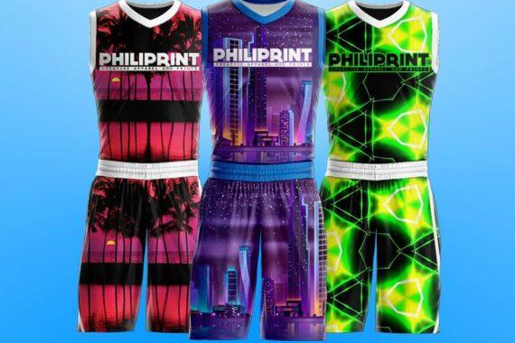 Philiprint Flourescent Neon Prints Full Sublimation Basketball Jersey