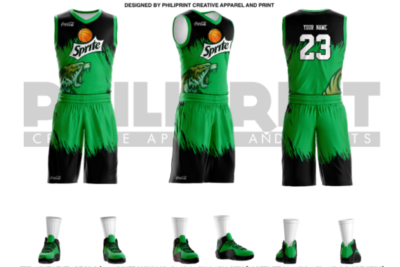 Philiprint Sprite Full Sublimation Basketball Jersey