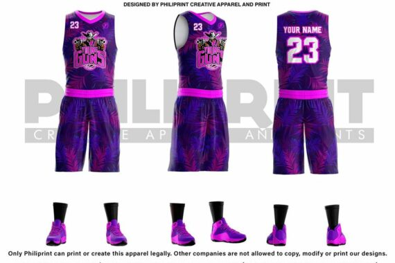 Philiprint YOUNG Guns Full Sublimation Basketball Jersey
