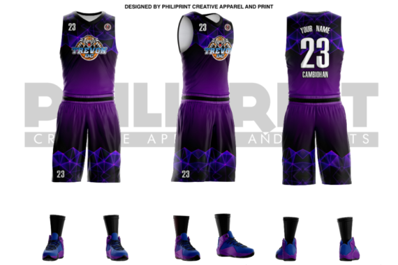 Philiprint TREVON DC Full Sublimation Basketball Jersey