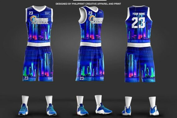 Philiprint Nestle PROFESSIONAL Flourescent Neon Prints Full Sublimation Basketball Jersey