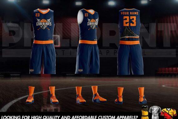 Philiprint Cebu Blades Full Sublimation Basketball Jersey